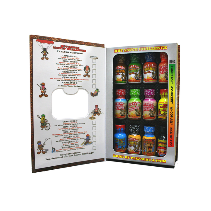 Hot Sauce Challenge Book Of Pleasure & Pain - Available online at Pepper Explosion