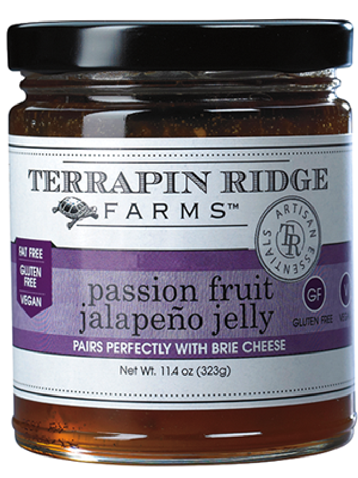 PASSION FRUIT JALAPENO JELLY available online at Pepper Explosion