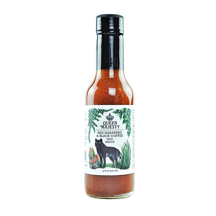 Queen Majesty Red Habanero & Black Coffee Hot Sauce available online at Pepper Explosion