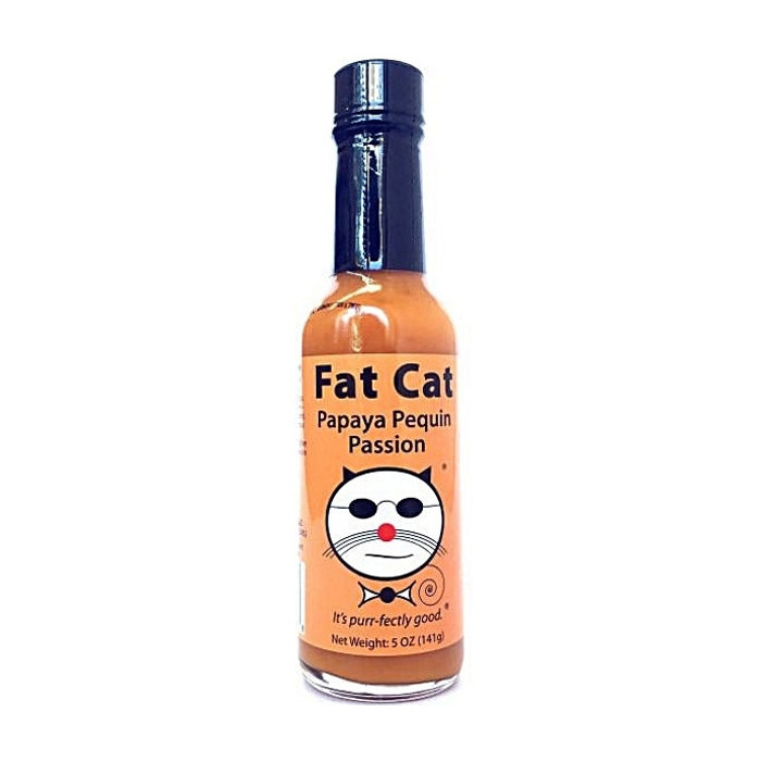 Fat Cat Papaya Pequin Passion Hot Sauce - Pepper Explosion Hot Sauce Store