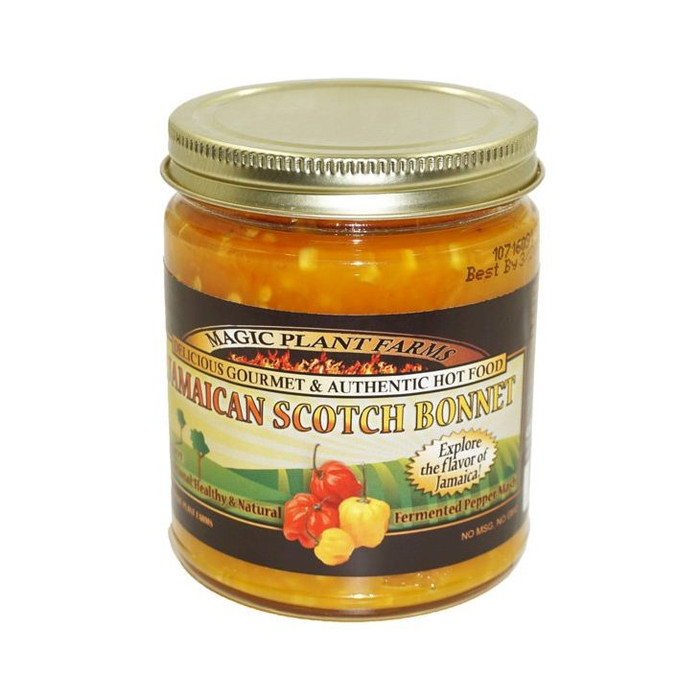 Jamaican Yellow Scotch Bonnet Pepper Mash available at PepperExplosion.com