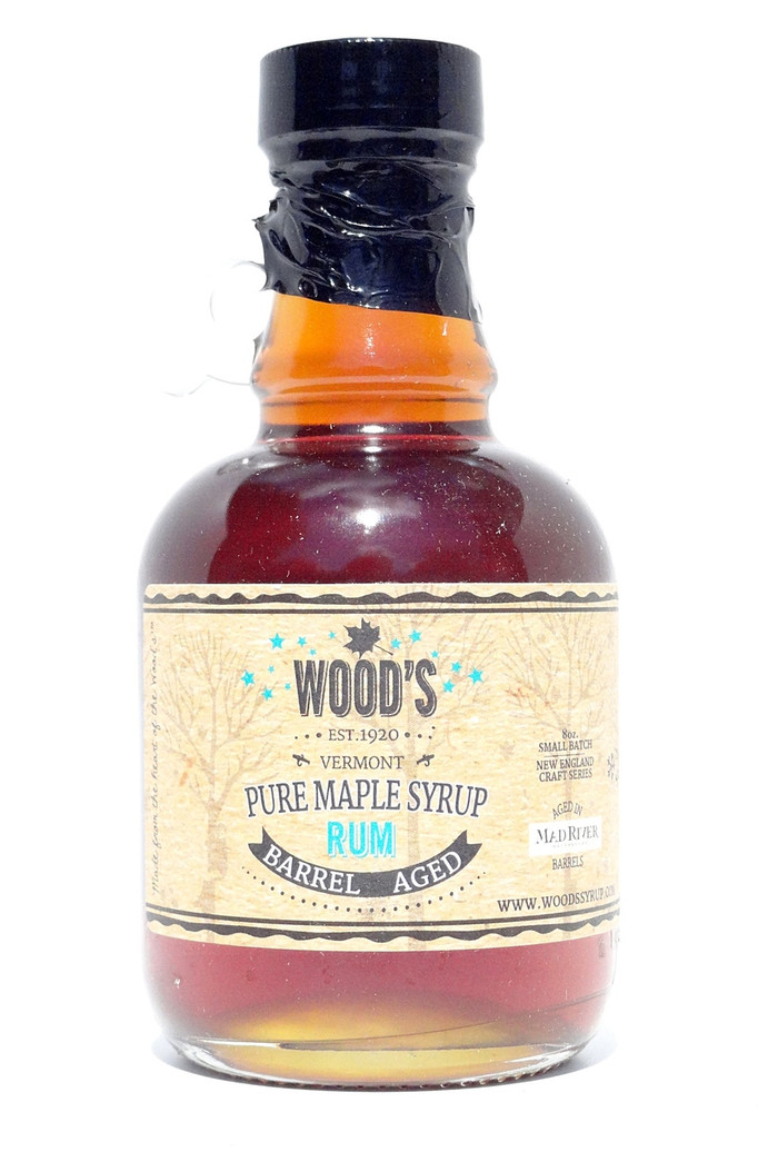Wood's Rum Barrel Aged Pure VT Maple Syrup