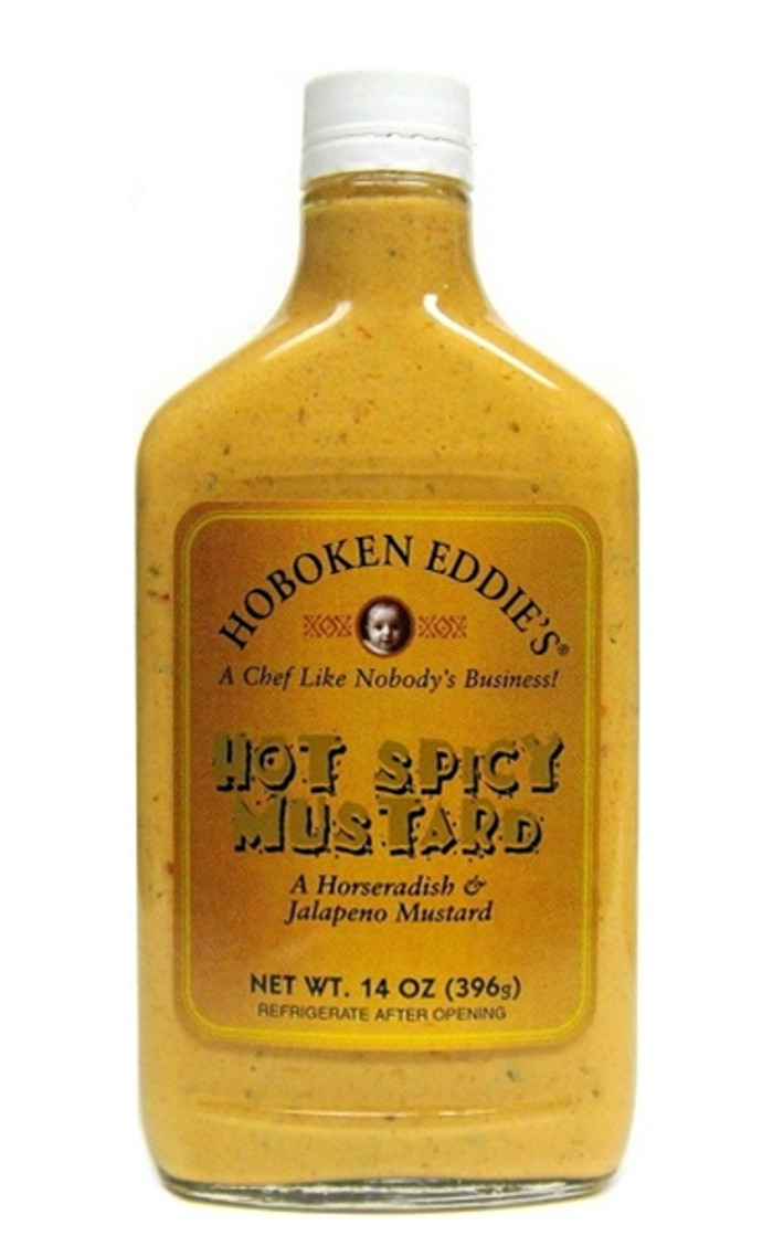 Hoboken Eddie's Hot Spicy Mustard available at Pepper Explosion