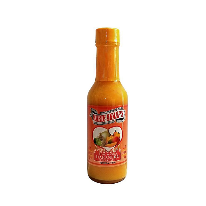 Try Marie Sharp's newest sauce Pure Mango Habanero available at Pepper Explosion