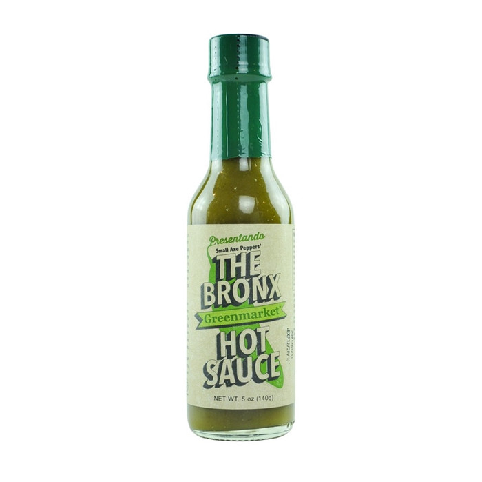 The Bronx Green Hot Sauce is available at PepperExplosion.com. As seen on Hot Ones Season 5