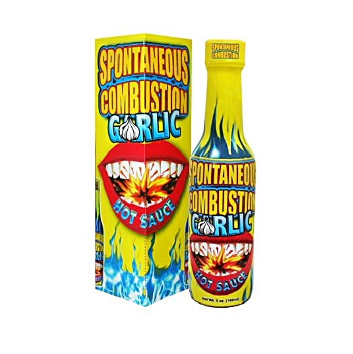 Spontaneous Combustion Garlic Hot Sauce - Available Online at Pepper Explosion