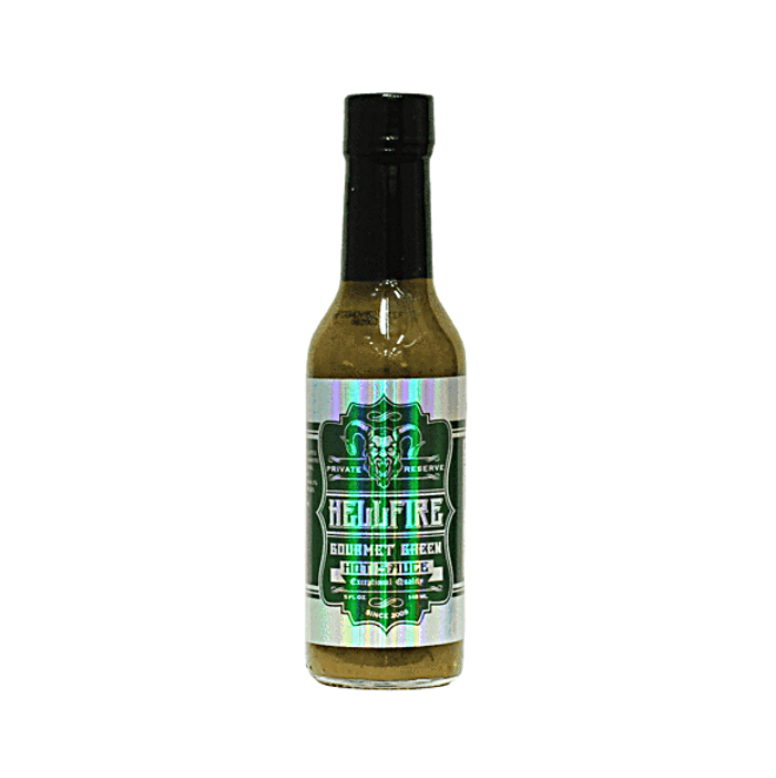 Hellfire Gourmet Green Hot Sauce - Pepper Explosion