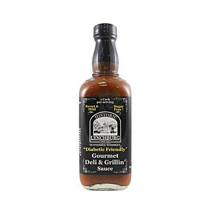 Tennessee Whiskey Sweet & Mild SUGAR FREE Gourmet Deli & Grillin' Sauce