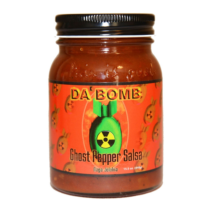 Da Bomb Ghost Pepper Salsa available online at Pepper Explosion