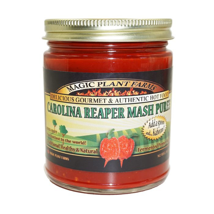 Carolina Reaper Mash available online at Pepper Explosion Hot Sauce Store