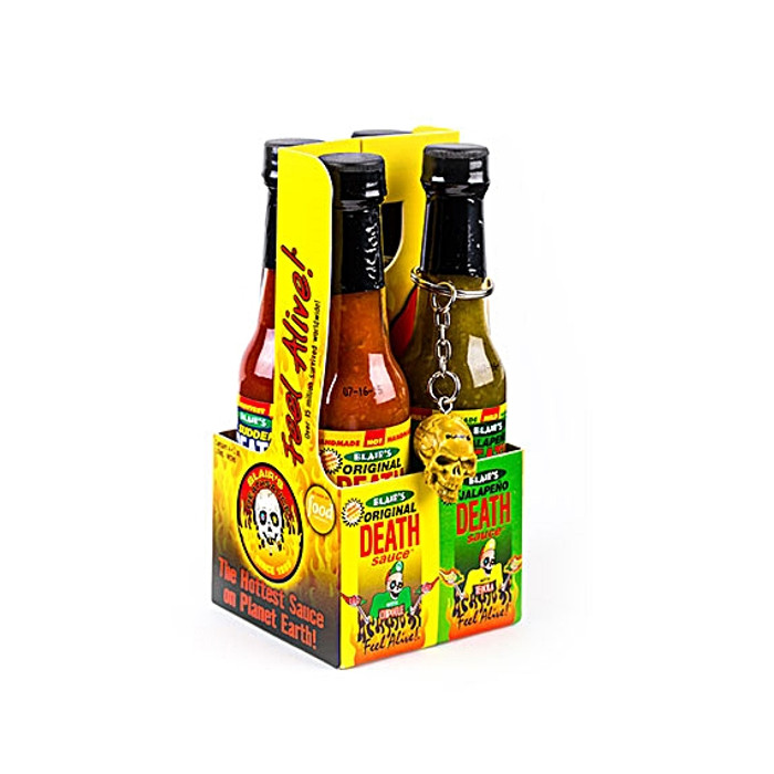 Blair's Death Sauce Mini 4-pack - Mega Death, Ultra Death, Sudden Death, Original Death