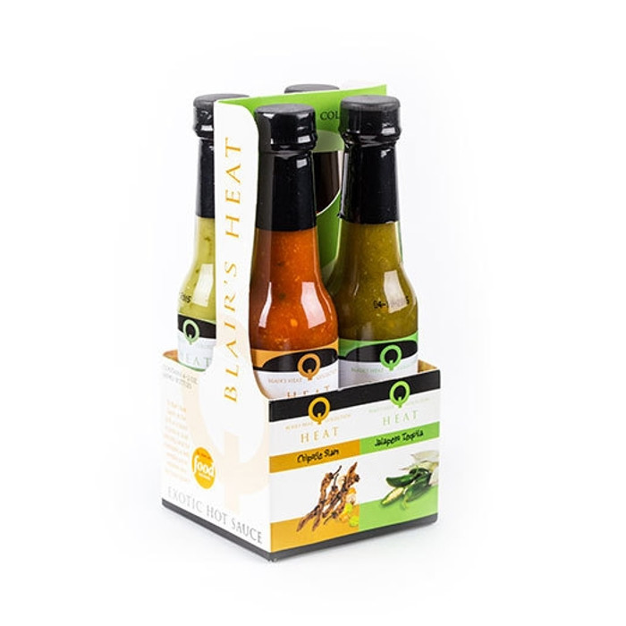 Blair's Q Heat Exotic Hot Sauce Gourmet Sampler 4 Pack