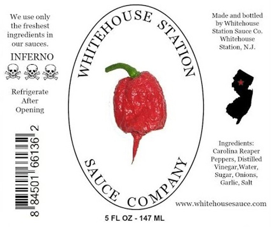 Get your bottle of Whitehouse Station Reaper Sauce at Pepper Explosion Hot Sauce Store