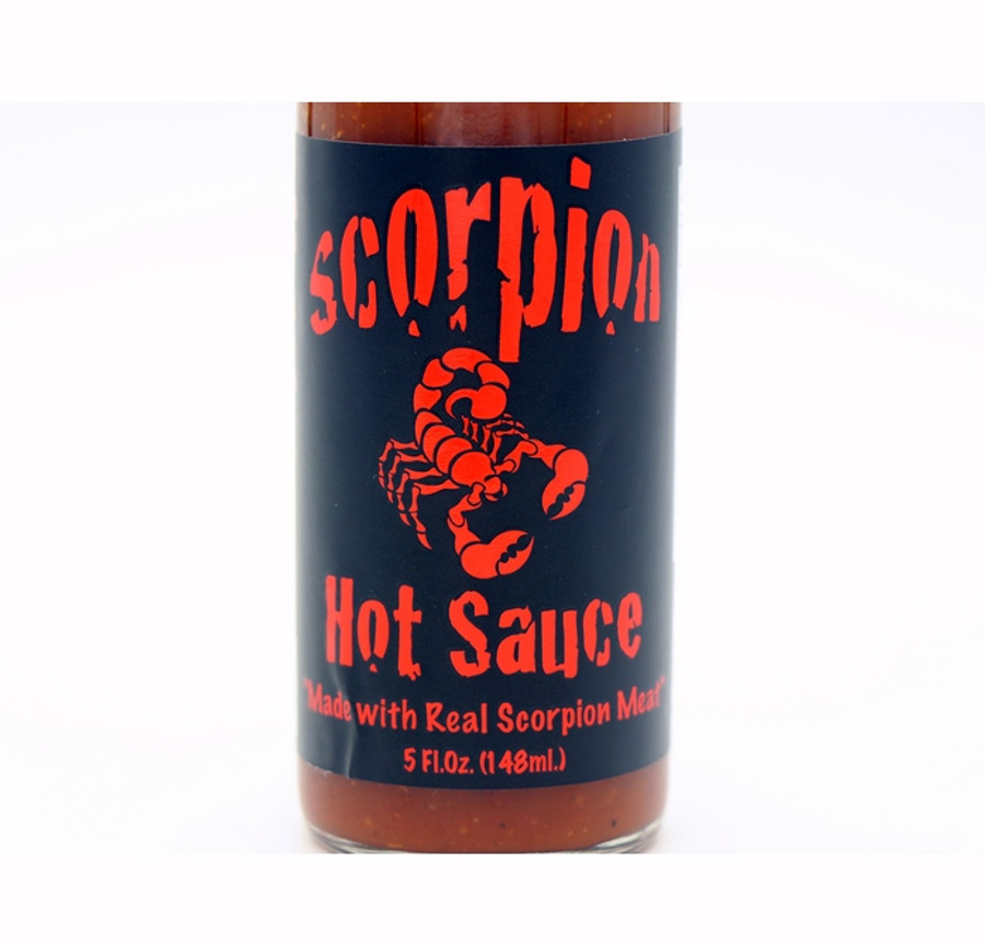 Scorpion Hot Sauce Made With Real Scorpion Meat