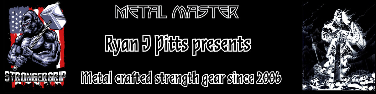 All StrongerGrip gear is hand crafted by Master of Metal Ryan J Pitts