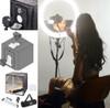 "Stellar Diva 18"" XLED Ring Light Gold + Stellar Photo Cube"