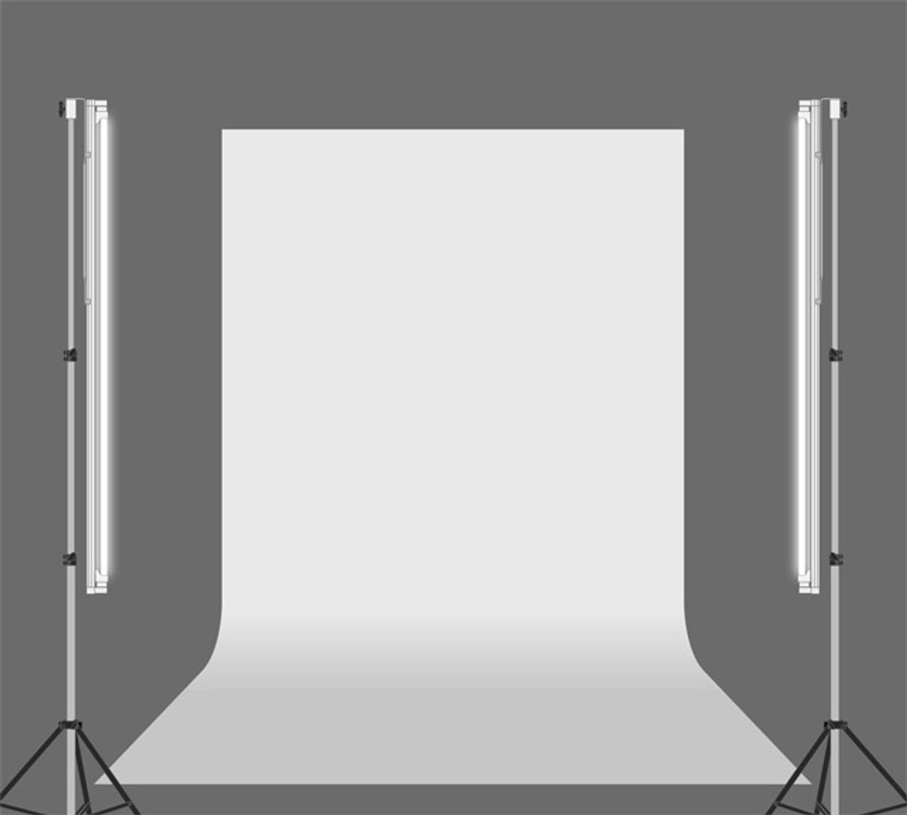 "Stellar 2 Linear Light Panel + 1 Diva Ring Light  18""  + 3 stands  Kit"