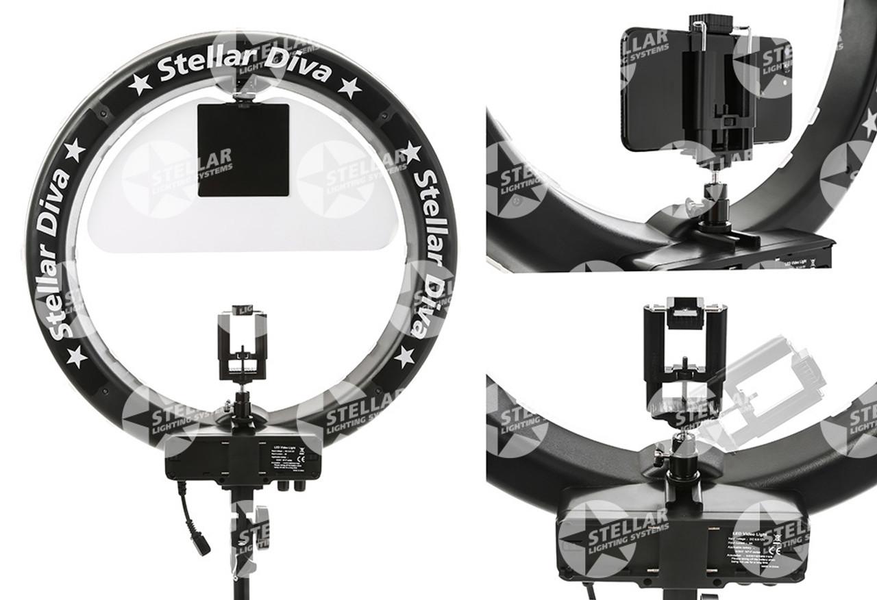 """Stellar Diva X-LED 18""""  Ring Light New Complete Kit"""