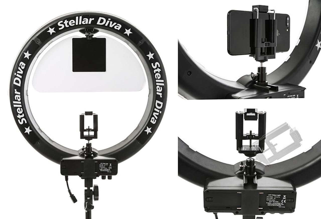 "Stellar XLED Diva  Ring Light 18"" + Linear Panel  Kit"