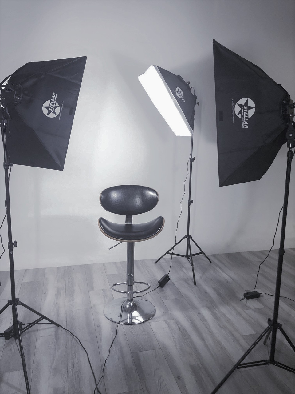 Stellar Orion, our verion of 3-Point Lighting Soft boxes.