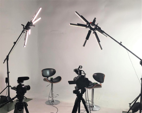 Stellar SuperStar Radial LED Ring Light+ Boom Stand