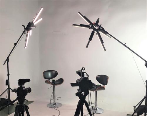 Stellar SuperStar Radial LED Ring Light+ Boom Stand
