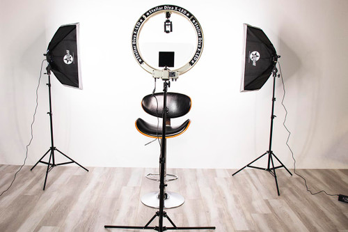 Stellar Gemini Photo/Video Kit + Stellar X- LED  Diva Ring Light 18 Inch