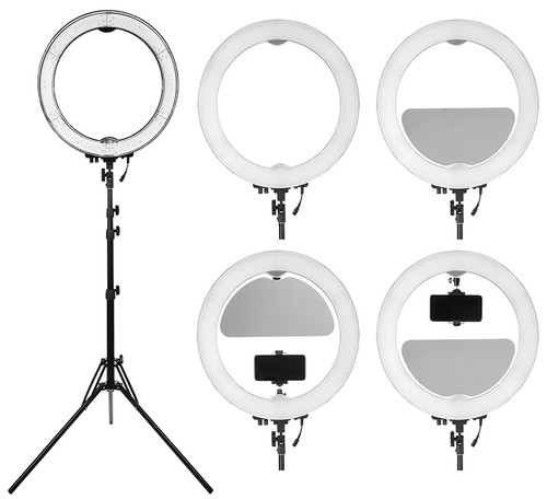 "Stellar Diva 18"" XLED Ring Light Gold + Stellar Photo Cube"