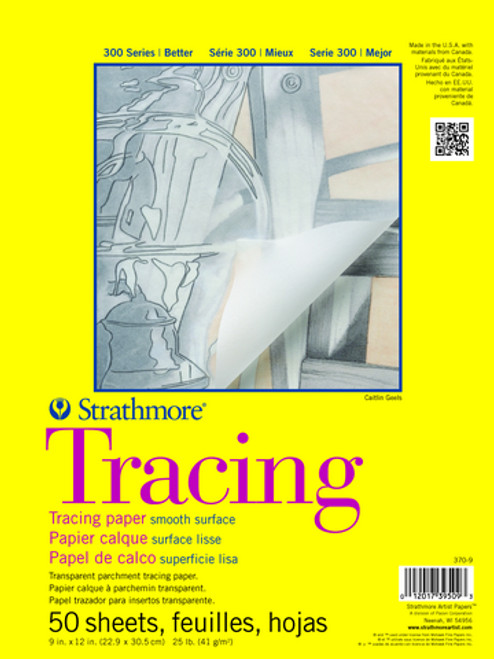 """Strathmore - Tracing Transparent Parchment Tape Pad - 300 Series - 11""""x14"""" - 50 Sheets - 25LB"""