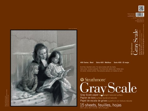 """Strathmore - Gray Scale Assorted Tints Tape Pad - 400 Series - 18""""x24"""" - 15 Sheets - 80LB"""