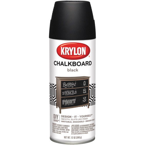 Chalkboard Aerosol Spray 12oz Black