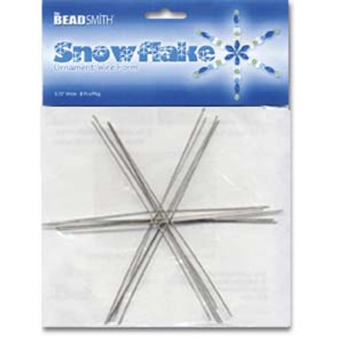 WIRE SNOWFLAKE 6 INCH .8MM DIA- 6PCS/CARD