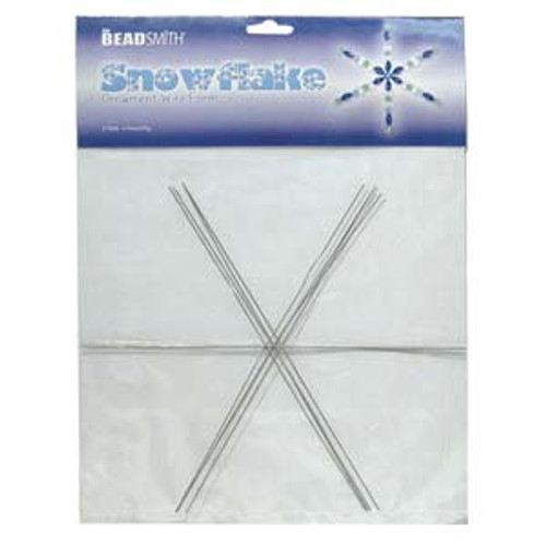 WIRE SNOWFLAKE 9 INCH .8MM DIA- 4PCS/CARD