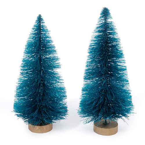 Sisal Tree - Green with Frost - 4 inches - 2 pieces