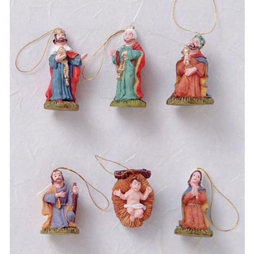 Ornaments with Blister Card - Nativity Set - 1.25 inches - 6 pieces