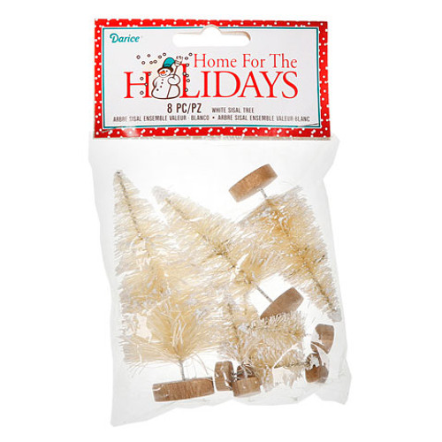 Value Pack Sisal Tree - White - Assorted Size - 8 pieces