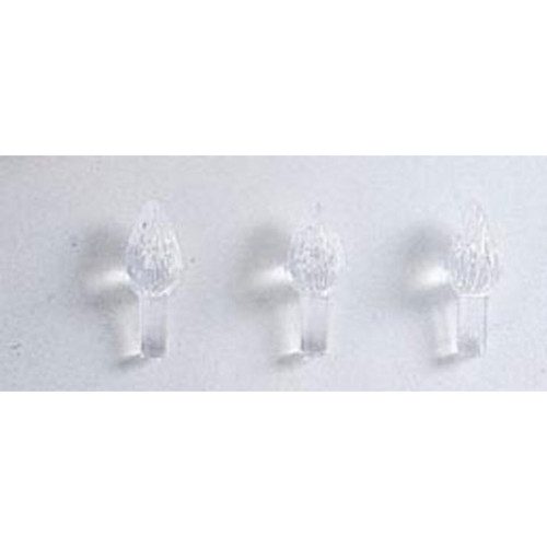 Ceramic Tree Accessories - Flame Pin - Clear - 5/8 inch - 100 pack