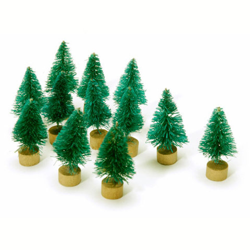 Sisal Tree - Green Christmas - 1 inch - 12 pieces