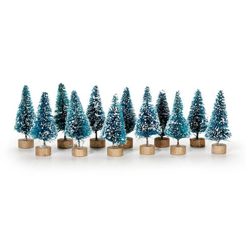 Sisal Tree - Green with Frost - 1 inch - 12 pieces