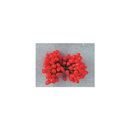 Holly Berries on Wire Stems - Red - 1/2 inch - 144 pieces