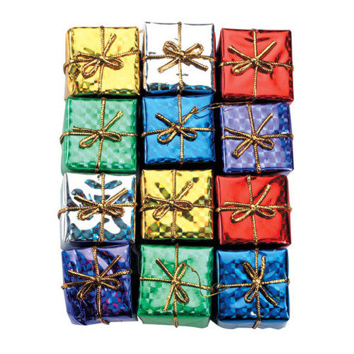 Holographic Gift Boxes - Assorted Colors - 1 inch - 12 pieces