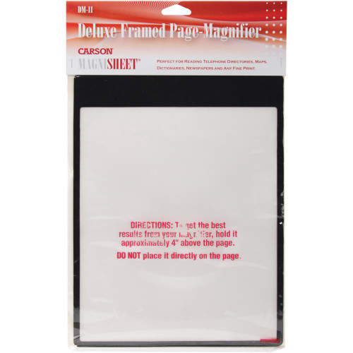 "MagniSheet Deluxe Framed Page Magnifier 10.75""X8.25"""