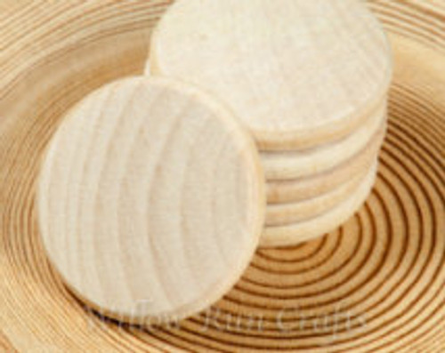 Wood Circle - 1-1/2 x 3/16 inches - 6 pieces