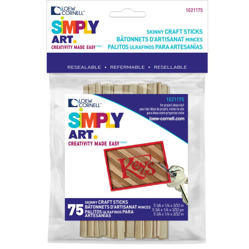 Woodsies Skinny Craft Sticks