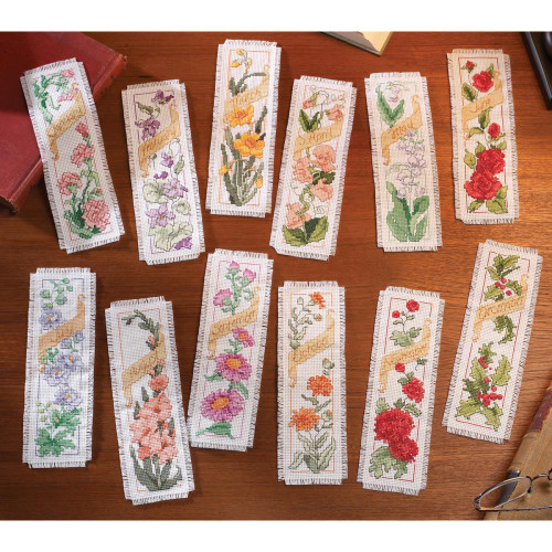 Bucilla – Flowers Of The Month Bookmarks