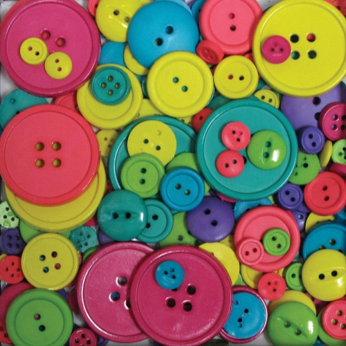 Favorite Findings Big Bag Of Buttons - Carnival 3.5oz