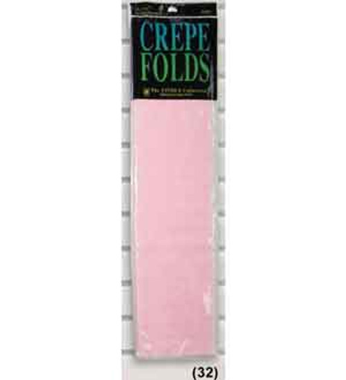 """Crepe Folds 20""""X7.5' – Baby Pink"""