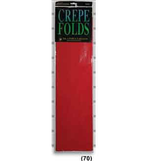 """Crepe Folds 20""""X7.5' – Flame Red"""