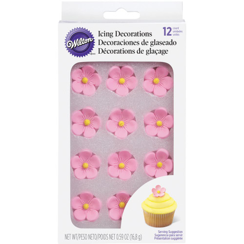 Royal Icing Decorations 12/Pkg – Petal Pink