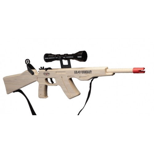 AK-47 Combat Rifle with Scope and Sling